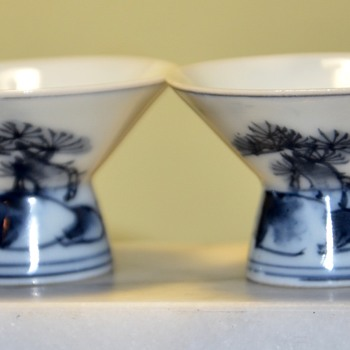 Two Paper-thin Porcelain Sake Cups