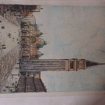 Venice St. Mark's Square Lithograph