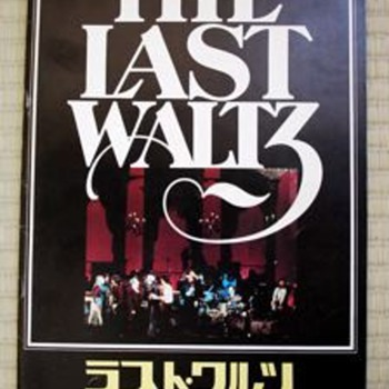 "The Band ""The Last Waltz"" Japanese cinema program - Music Memorabilia"