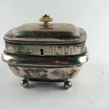 Antique Sterling Tea Caddy Circa 1798??? - Silver