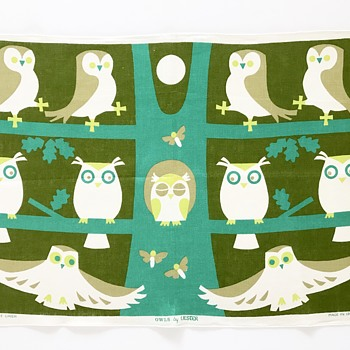 Vintage Tea Towel Owls by Ulster - Kitchen