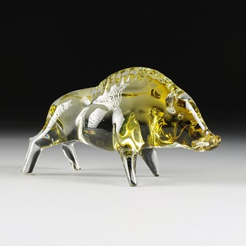 Texas Wild Boar - Art Glass