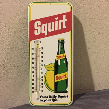 1977 squirt advertising thermometer  - Advertising