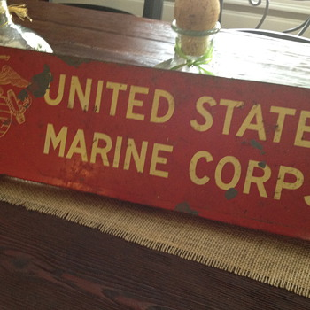 Would like information on this sign my husband found in shed