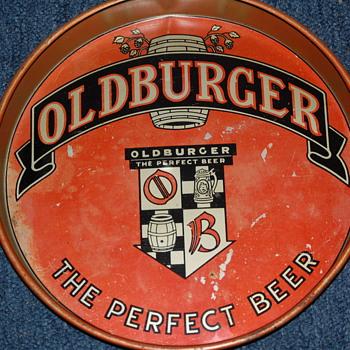 Oldburger beer tray - 1930's - Breweriana