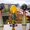 Rindskopf petita vases & D'Hurys cameo glass lamp base