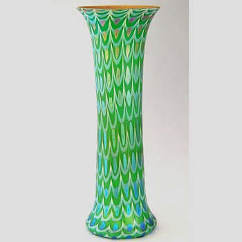 A tall Durand vase - Art Glass