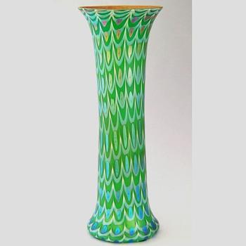 A tall Durand vase