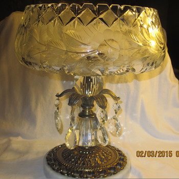 Crystal Italian compote with Italian marble base - Glassware