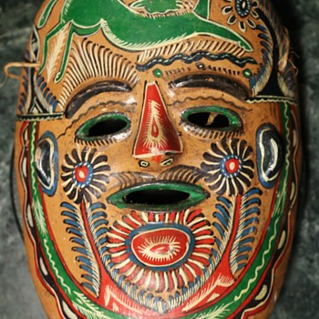 Old Mexican Pottery Mask - Pottery