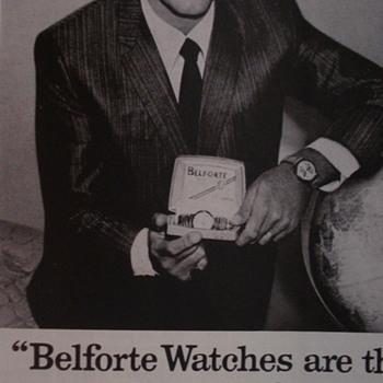 "JERRY LEWIS ADVERTISEMENT OF ""BELFORTE WATCHES"" - Paper"