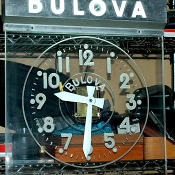 Bulova Advertising Clock - Mid Century Modern - Clocks