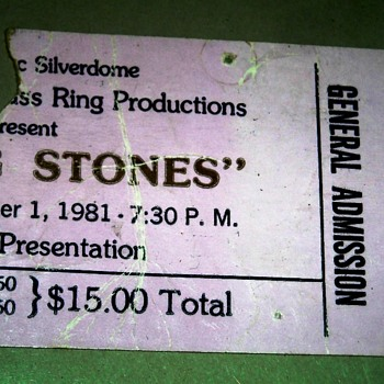 Concert Ticket Stubs from back in the daze - Paper