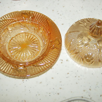 My Favorite Carnival Glass Dish Set - Glassware