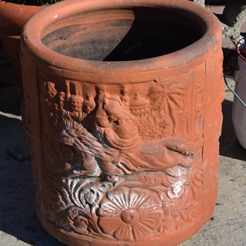 Beautiful, old, terracotta planter - from India or China or ?? - Pottery
