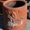 Beautiful, old, terracotta planter - from India or China or ??
