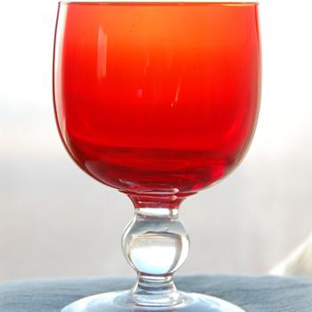 Red-Orange Glass_Help ID Please - Glassware