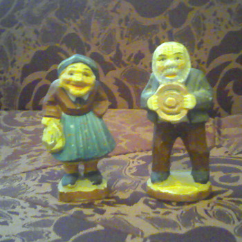 Old Couple Figurines - Pottery