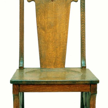 European Arts & Crafts Oak Side Chair - Furniture