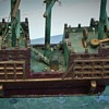 """Folk Art Pirate Ship Circa 1926 Based On Ship In The Silent Movie """"The Black Pirate"""" 1926"""