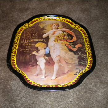 J Leinenkugel Brewing Co. Chippewa Falls, WI Woman Serving Tray - Breweriana