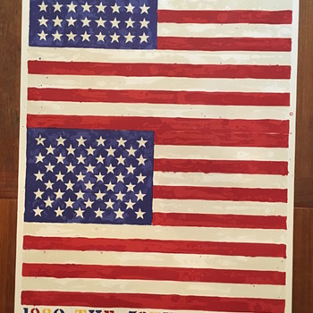 Jasper Johns, Two Flags (Whitney Anniversary), 1979 - Posters and Prints