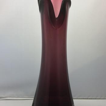 Vintage glass vase  - Art Glass