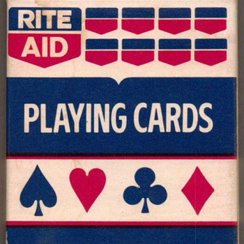 """Rite-Aid"" Poker Playing Cards - Blue - Cards"
