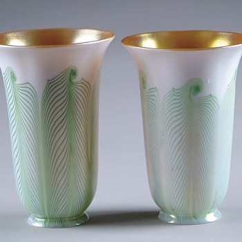 Steuben hooked feather shades - Art Glass