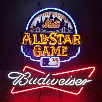 BUDWEISER NEW YORK METS/CITI FIELD/ALL STAR GAME NEON SIGN