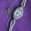 Antique Granat Kirberger 14KT Diamond Ladies Wristwatch