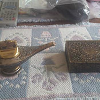 Genie Lamp Cigarette Lighter with Cigarette Case
