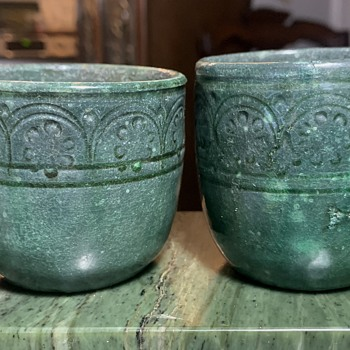 Two Mexican Greenware Cups - Pottery