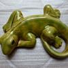 Pottery lizard marked 8219