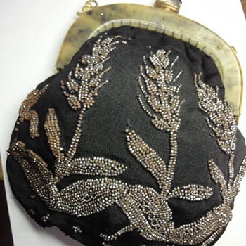 Antique Cut Steel (magnetic) Handmade Brodary Evening Bag - Bags