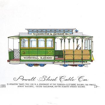 Curro Cablecar Prints - Railroadiana
