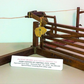 PATENT MODEL - 1878 IMPROVED FARM GATE - Advertising