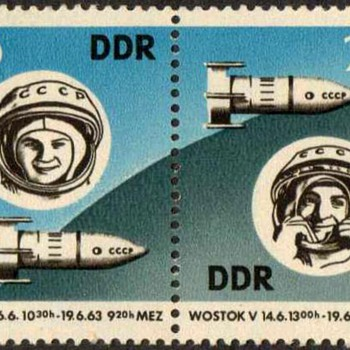 "1963 - East Germany ""Vostok V & VI"" Postage Stamps - Stamps"