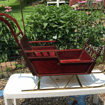 Antique style wooden doll sleigh