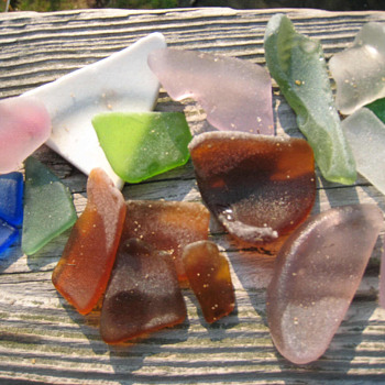 Beach Glass from Potomac River - Bottles