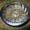 Silver Trim Glass Dish