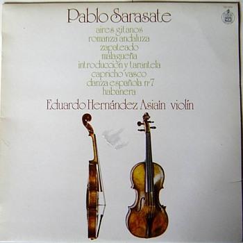 Hispavox 130009 1975, Sarasate pieces, Eduardo Hernandez Asiain on violin