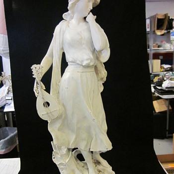 Vintage Bronze Mignon Lady Statue By Luca Madrassi - Victorian Era