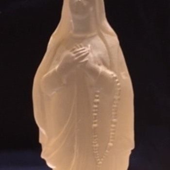 Baccarat Lady of the Lourdes Crystal Figurine.   - Figurines