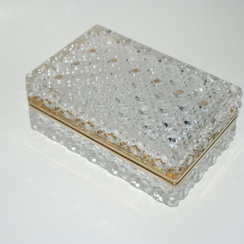 Large Glass or Crystal Box - Glassware