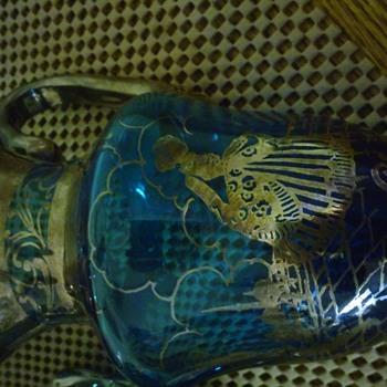 Teal or Sea green Sterling Tea Set
