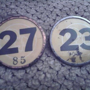 Whitehead And Hoag Number Badge - Advertising