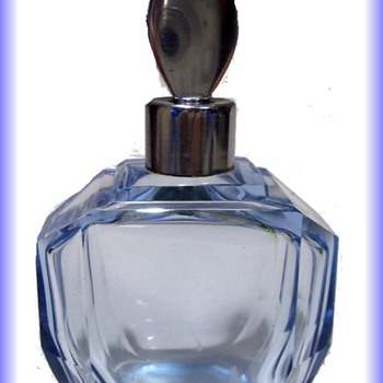 Perfume Bottle - Blue - Unknown Maker - Bottles