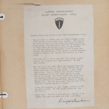 Original Eisenhower D-Day Letter