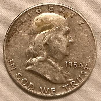 1954 half dollar 2 errors both sides - US Coins